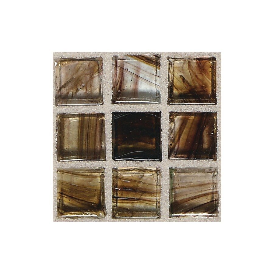 American Olean Visionaire Evening Shadow Uniform Squares Mosaic Glass Wall Tile (Common: 13-in x 13-in; Actual: 12.87-in x 12.87-in)
