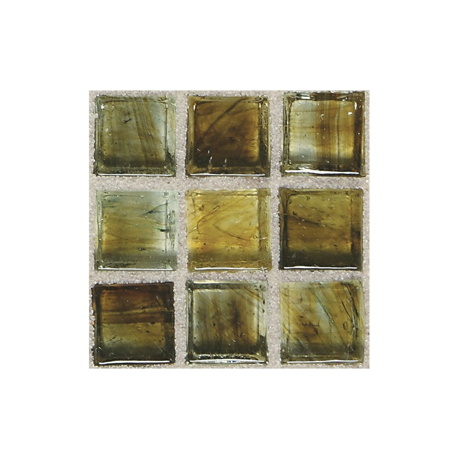 American Olean Visionaire Gentle Earth Uniform Squares Mosaic Glass Wall Tile (Common: 13-in x 13-in; Actual: 12.87-in x 12.87-in)