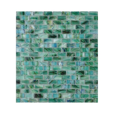 Visionaire Peaceful Sea Gl Mosaic Subway Indoor Outdoor Wall Tile Common 2 In X 4 Actual 12 87