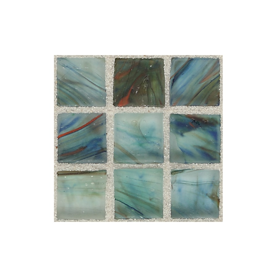 American Olean Visionaire Peaceful Sea Uniform Squares Mosaic Glass Wall Tile (Common: 13-in x 13-in; Actual: 12.87-in x 12.87-in)