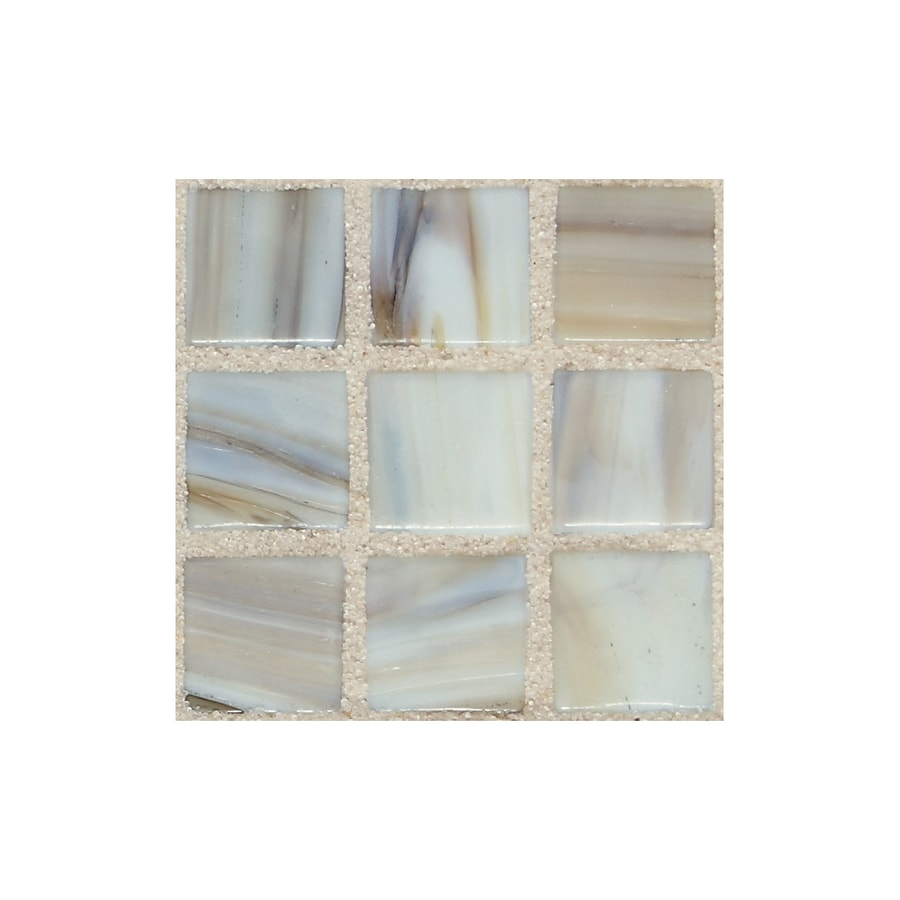 American Olean Visionaire Soothing Mist Uniform Squares Mosaic Glass Wall Tile (Common: 13-in x 13-in; Actual: 12.87-in x 12.87-in)