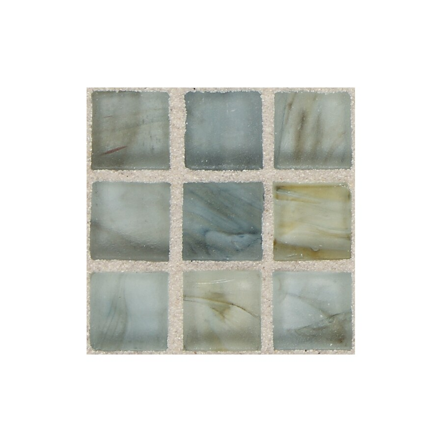 American Olean Visionaire Whispering Stream Uniform Squares Mosaic Glass Wall Tile (Common: 13-in x 13-in; Actual: 12.87-in x 12.87-in)