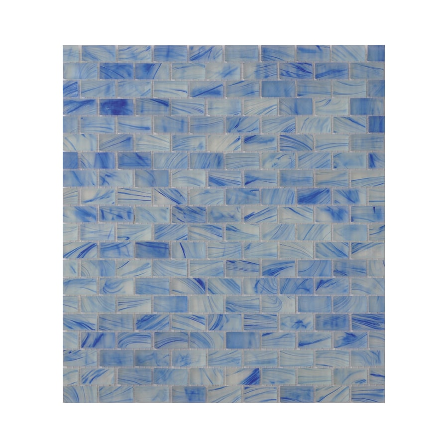 American Olean Visionaire Clear Skies Brick Mosaic Glass Wall Tile (Common: 13-in x 13-in; Actual: 12.87-in x 12.87-in)