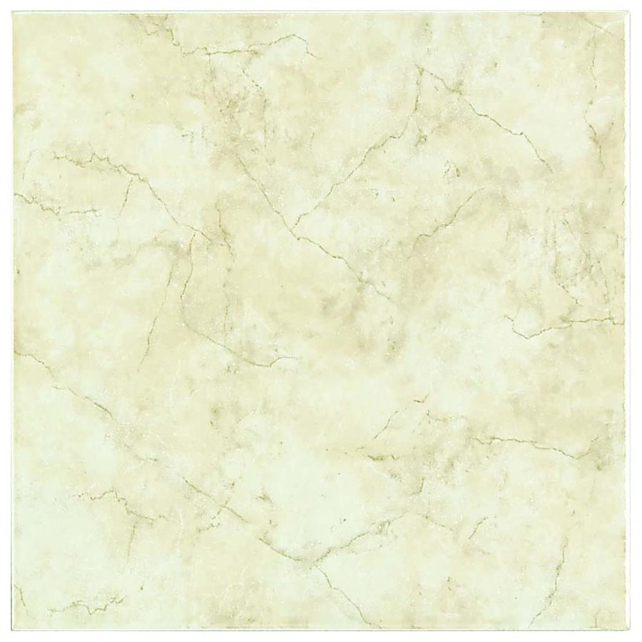 Style Selections Lantana Floor Cream Ceramic Floor and Wall Tile (Common: 12-in x 12-in; Actual: 11.81-in x 11.81-in)