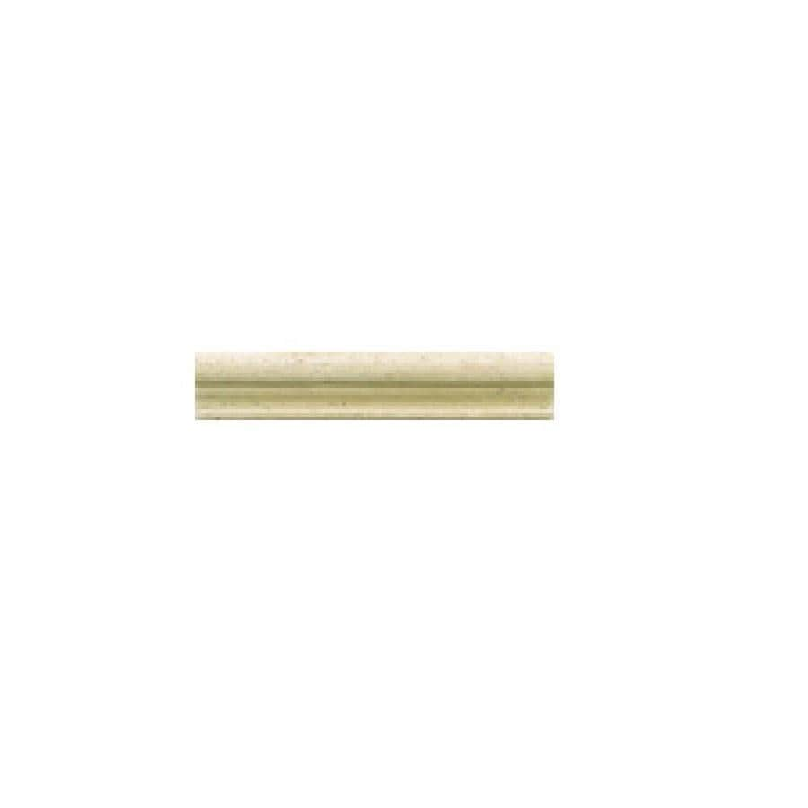 Travertine Chair Rail 2 X 12 Part - 21: American Olean Designer Elegance Sienna Travertine Ceramic Chair Rail Tile  (Common: 2-in