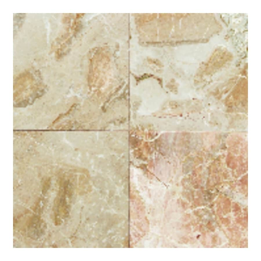 American Olean Marble 10-Pack Breccia Onicata Marble Floor and Wall Tile (Common: 12-in x 12-in; Actual: 12-in x 12-in)