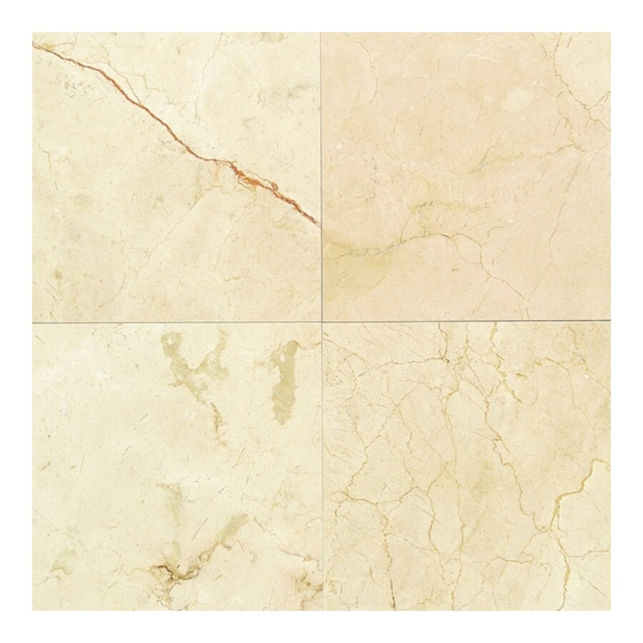American Olean Marble 10-Pack Crema Marfil Elegance Marble Floor and Wall Tile (Common: 12-in x 12-in; Actual: 12-in x 12-in)