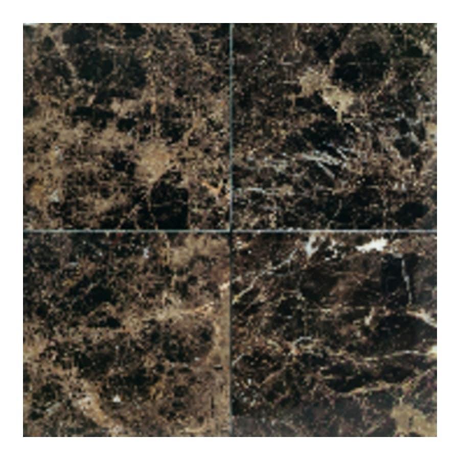 American Olean Marble 10-Pack Emperador Dark Marble Floor and Wall Tile (Common: 12-in x 12-in; Actual: 12-in x 12-in)