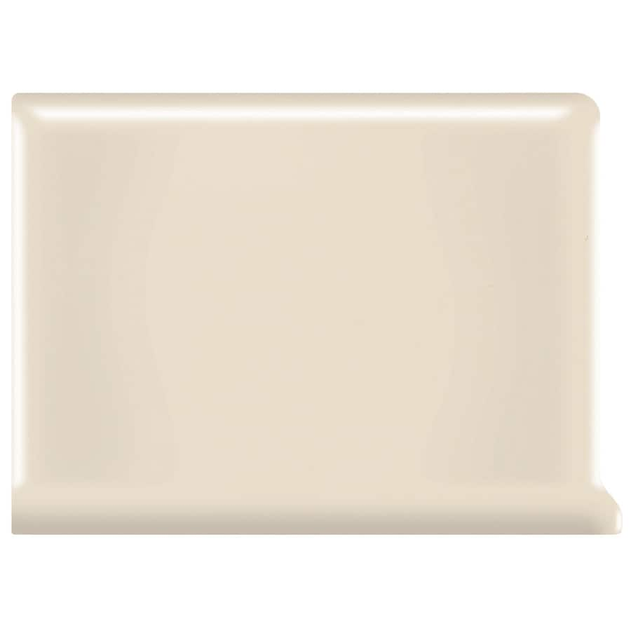 American Olean Bright Gloss Almond Ceramic Cove Base Tile (Common: 6-in x 6-in; Actual: 6-in x 6-in)
