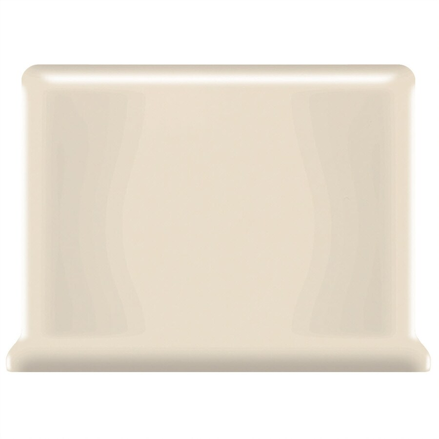 American Olean Bright Gloss Almond Ceramic Cove Base Tile (Common: 4-in x 6-in; Actual: 4.25-in x 6-in)