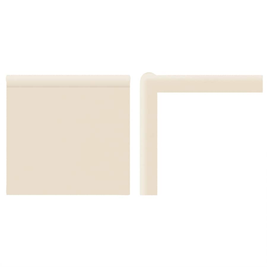 American Olean Bright Gloss Almond Ceramic Mud Cap Corner Tile (Common: 2-in x 2-in; Actual: 2-in x 2-in)