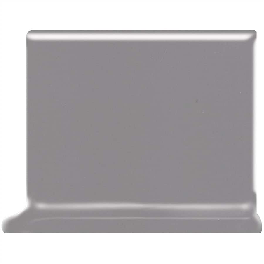 American Olean Bright Storm Gray Ceramic Cove Base Tile (Common: 4-in x 4-in; Actual: 4.25-in x 4.25-in)