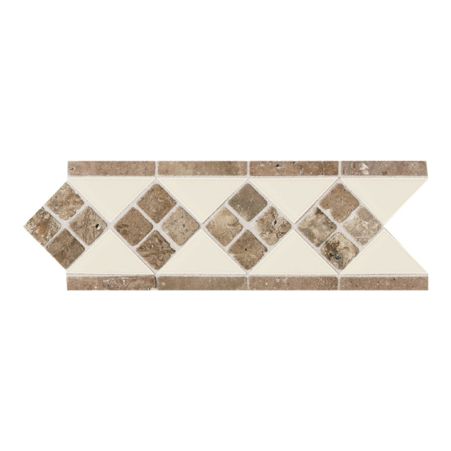 American Olean Designer Elegance Almond Ceramic Listello Tile (Common: 4-in x 12-in; Actual: 4-in x 12-in)