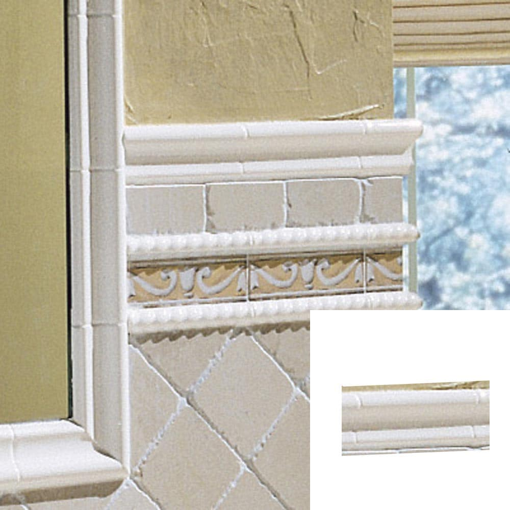 "Dal-Tile® 2"" X 6"" White Chair Rail Tile At Lowes.com"