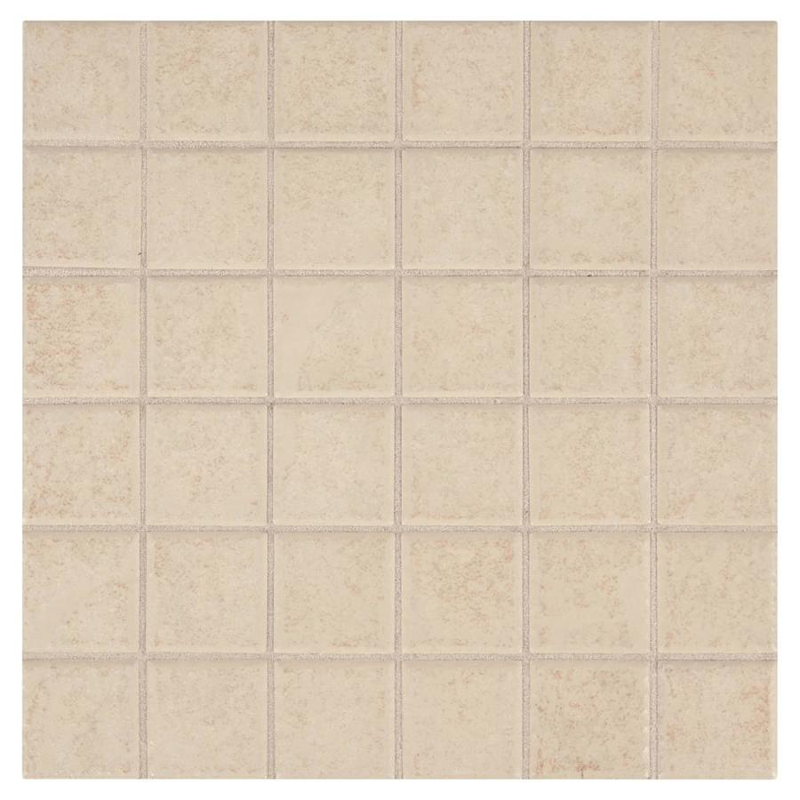 American Olean Sandy Ridge Almond Uniform Squares Mosaic Ceramic Wall Tile (Common: 12-in x 12-in; Actual: 12-in x 12-in)