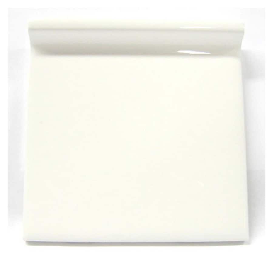 American Olean Starting Line White Gloss Ceramic Cove Base Tile (Common: 4-in x 4-in; Actual: 4.25-in x 4.25-in)
