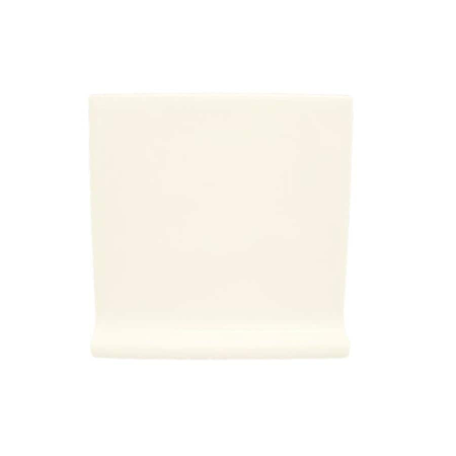 american olean starting line biscuit gloss ceramic cove base tile common 4in