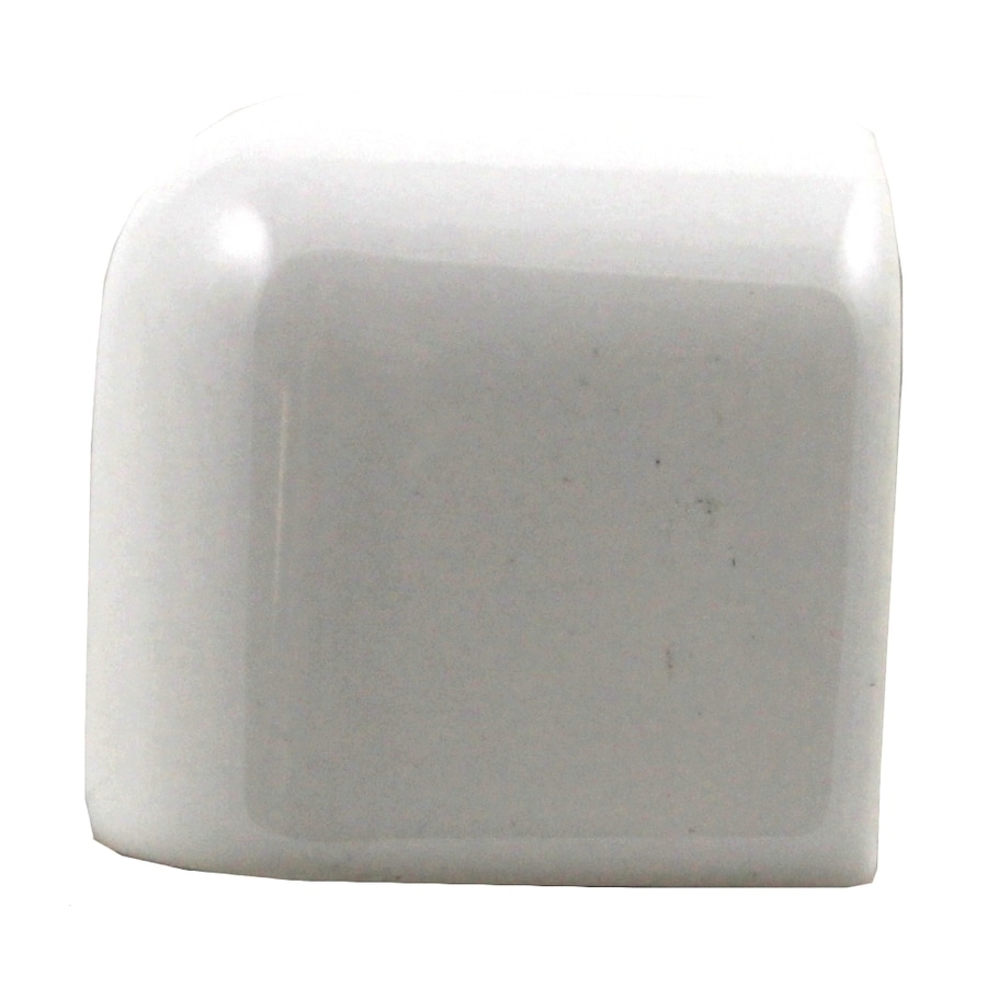 American Olean Starting Line White Gloss Ceramic Mud Cap Corner Tile (Common: 2-in x 2-in; Actual: 2-in x 2-in)