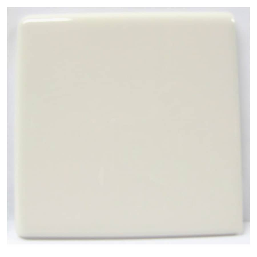 American Olean Starting Line Biscuit Gloss Ceramic Bullnose Tile (Common: 4-in x 4-in; Actual: 4.25-in x 4.25-in)