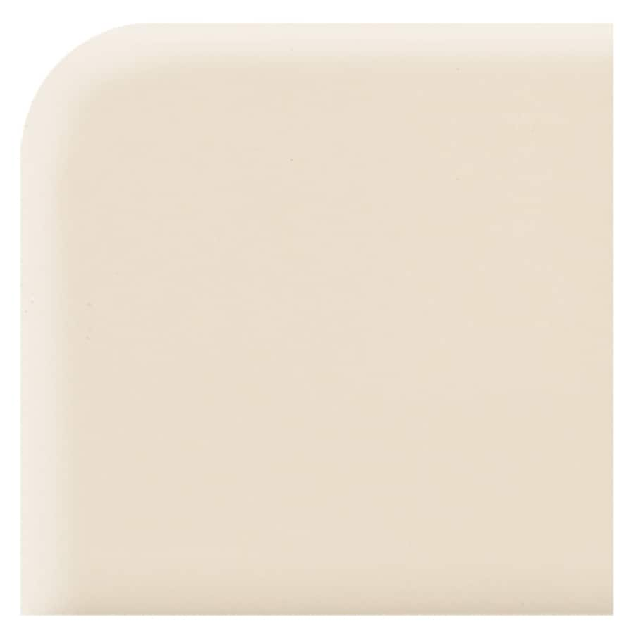 American Olean Starting Line Biscuit Gloss Ceramic Bullnose Tile (Common: 2-in x 2-in; Actual: 2-in x 2-in)