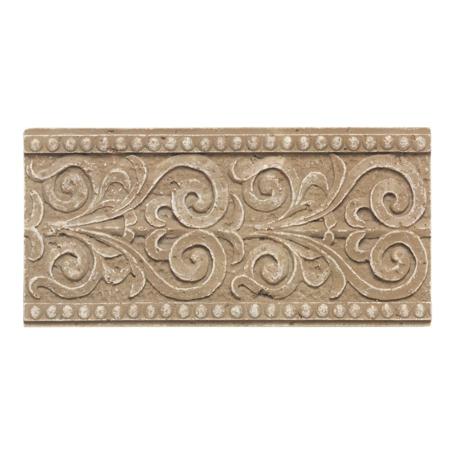 American Olean Designer Elegance Mocha Ceramic Listello Tile (Common: 4-in x 8-in; Actual: 4-in x 8-in)