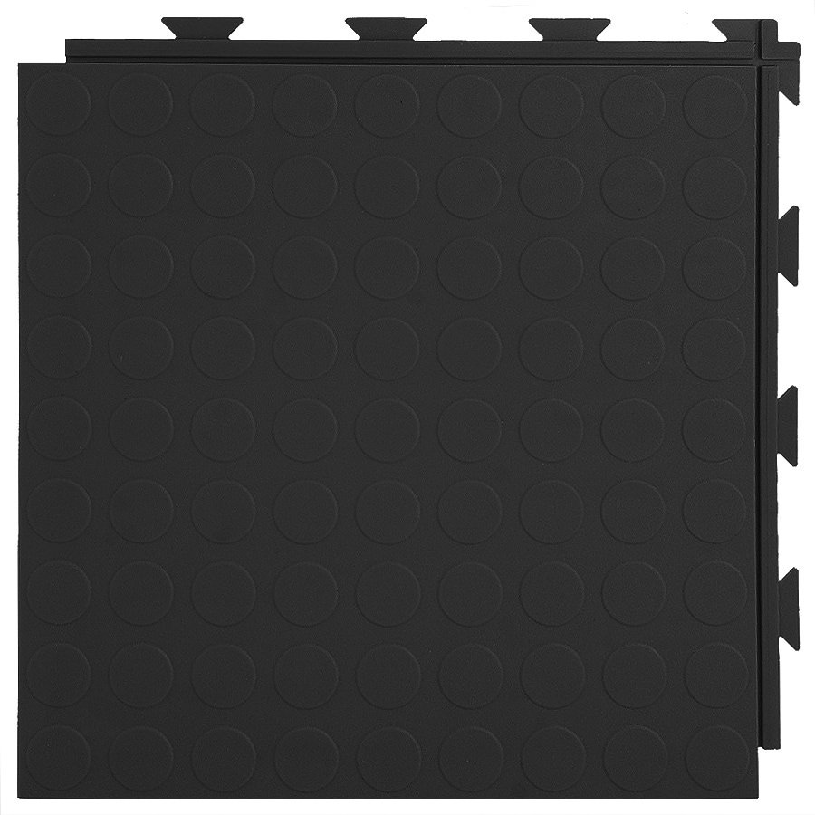 Greatmats 20-Piece 12-in x 12-in Black Raised Coin Garage Floor Tile