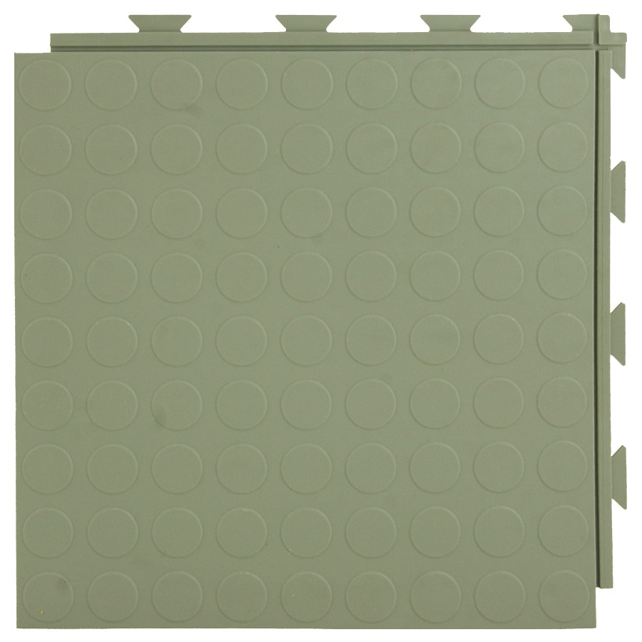 Greatmats 20-Piece 12-in x 12-in Gray Raised Coin Garage Floor Tile