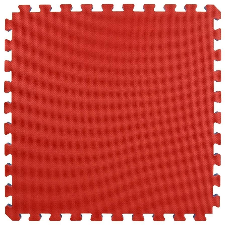 Shop Greatmats 25 Pack 24 In X 24 In Red Blue Reversible