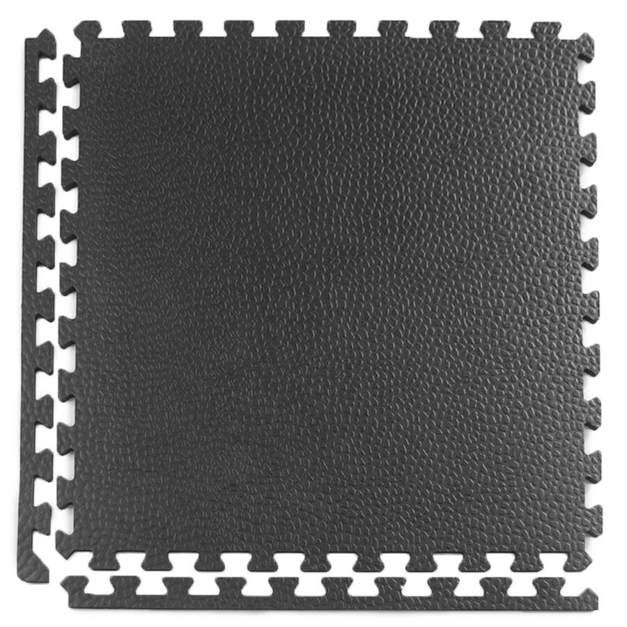 Greatmats 25-Pack 24-in x 24-in Black Loose Lay (Solid Color) Foam Tile Multipurpose Flooring