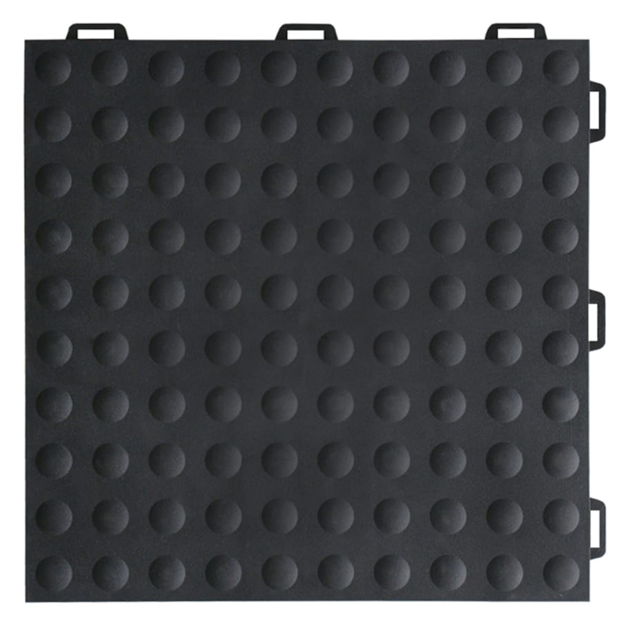 Greatmats StayLock 26-Pack 12-in x 12-in Black Loose Lay PVC Plastic Tile Multipurpose Flooring