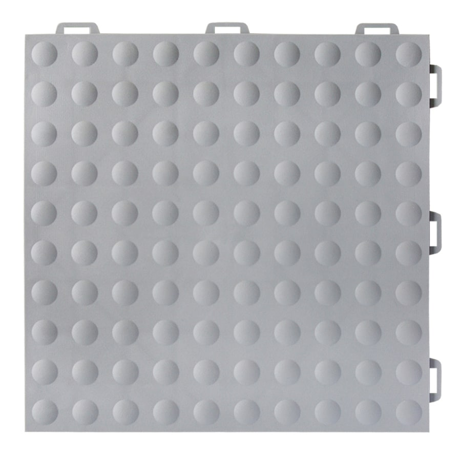 Greatmats StayLock 26-Pack 12-in x 12-in Gray Loose Lay PVC Plastic Tile Multipurpose Flooring