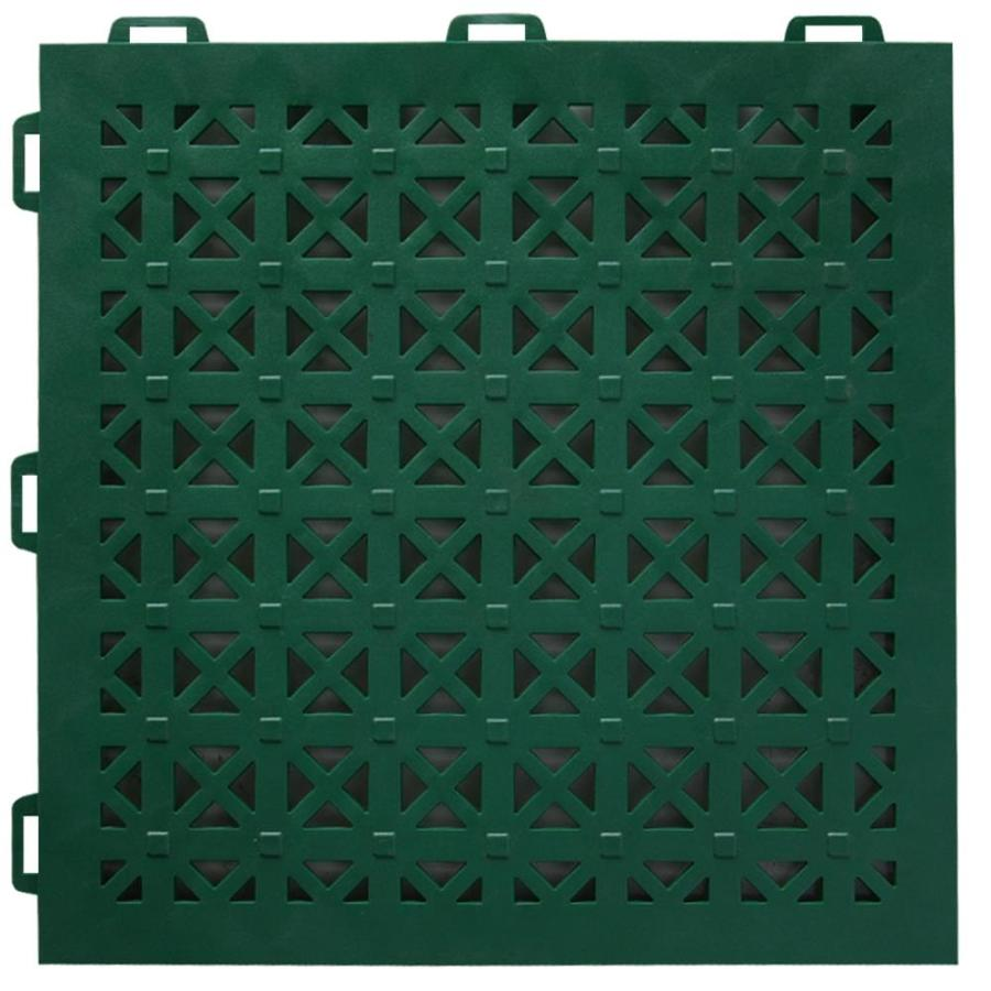 Greatmats Staylock 26-Pack 12-in x 12-in Green Loose Lay (Solid Color) Pvc Plastic Tile Multipurpose Flooring