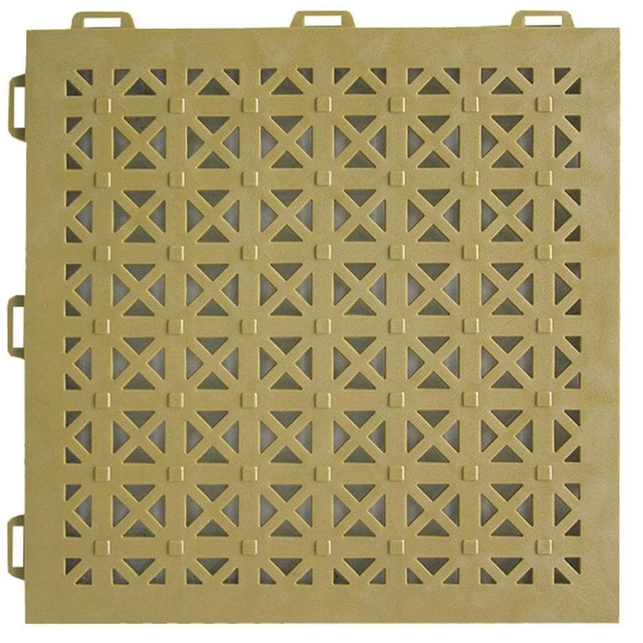 Greatmats StayLock 26-Pack 12-in x 12-in Tan Loose Lay PVC Plastic Tile Multipurpose Flooring
