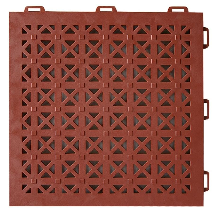 Greatmats StayLock 26-Pack 12-in x 12-in Terra Cotta Loose Lay PVC Plastic Tile Multipurpose Flooring