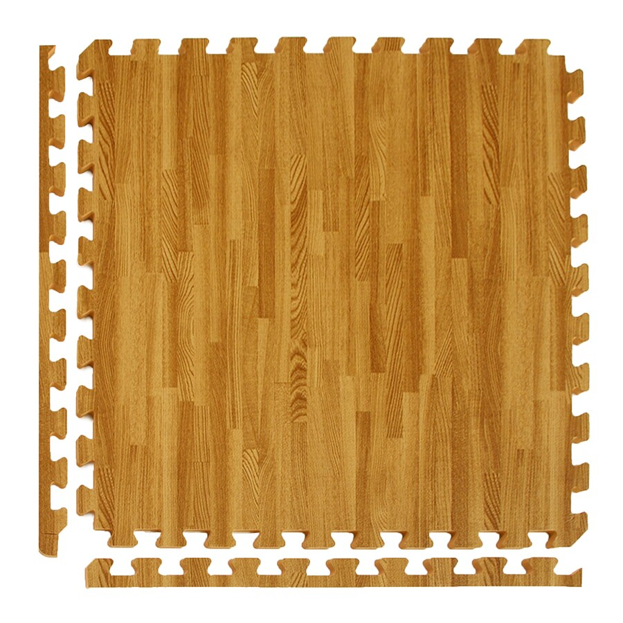 Greatmats 25-Pack 24-in x 24-in Medium Woodgrain Loose Lay Wood Foam Tile Multipurpose Flooring