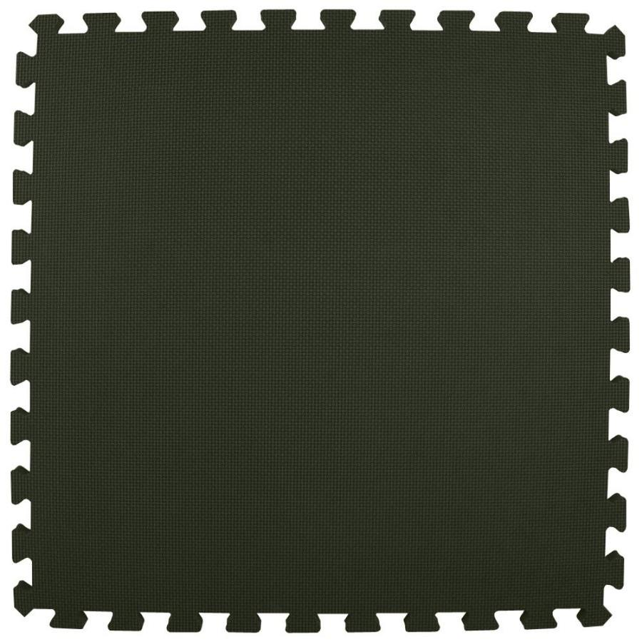 Greatmats 25-Pack 24-in x 24-in Black Loose Lay Foam Tile Multipurpose Flooring