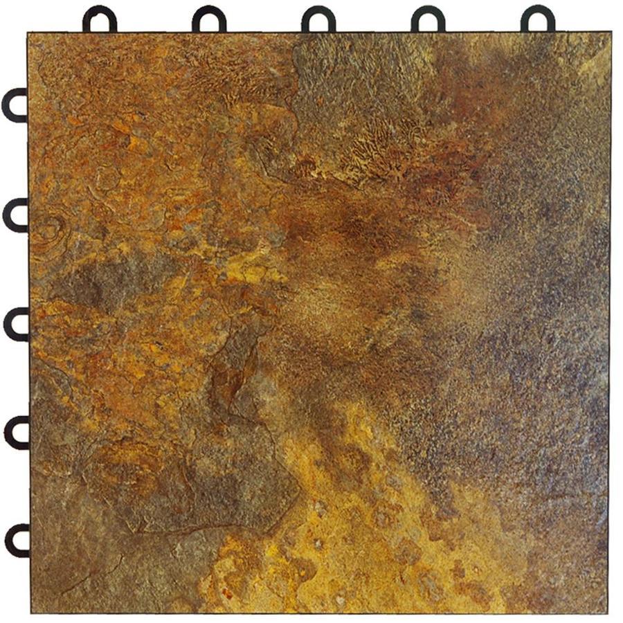 Greatmats Maxtile 26-Pack 12-in x 12-in Slate Loose Lay Slate Vinyl Plastic Tile Multipurpose Flooring