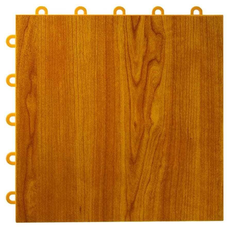Greatmats MaxTile 26-Pack 12-in x 12-in Walnut Woodgrain Loose Lay Wood Vinyl/Plastic Tile Multipurpose Flooring