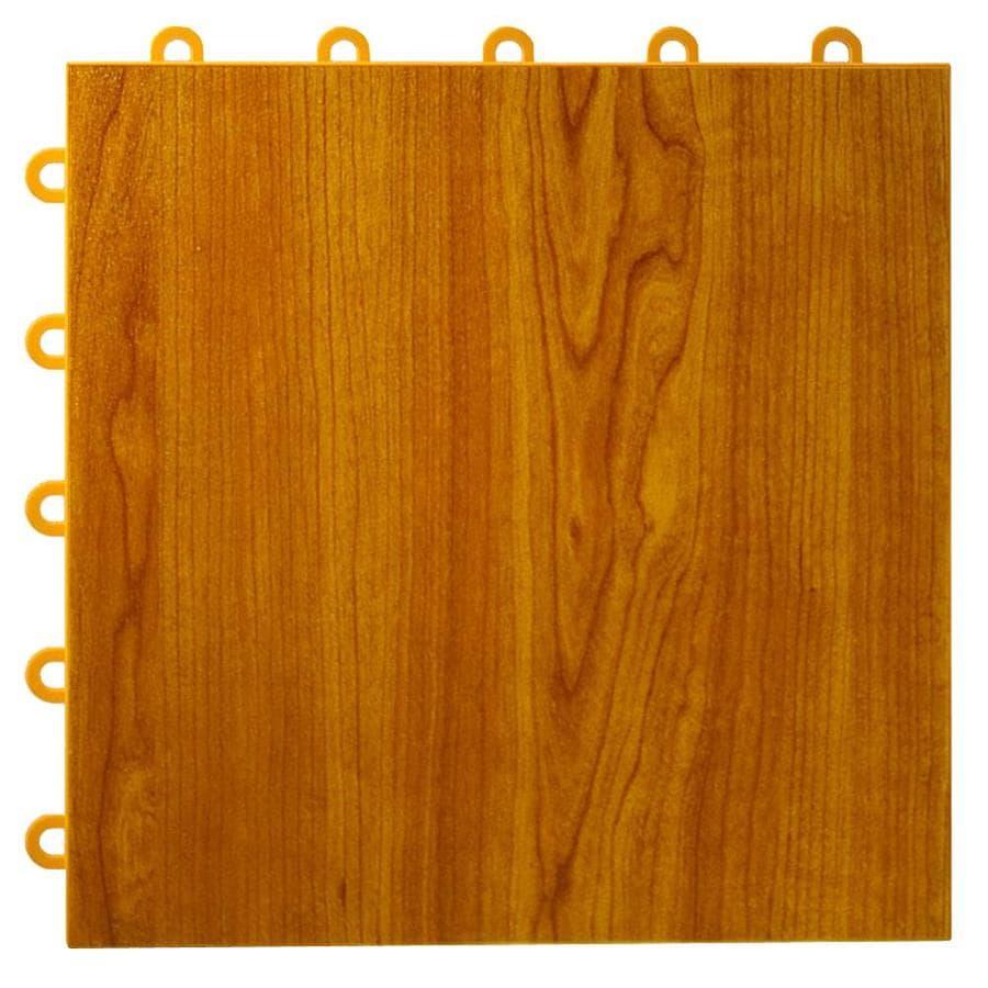 Greatmats Maxtile 26-Pack 12-in x 12-in Walnut Woodgrain Loose Lay Wood Vinyl Plastic Tile Multipurpose Flooring