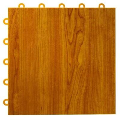 Greatmats MaxTile 26-Pack 12-in x 12-in Walnut Woodgrain