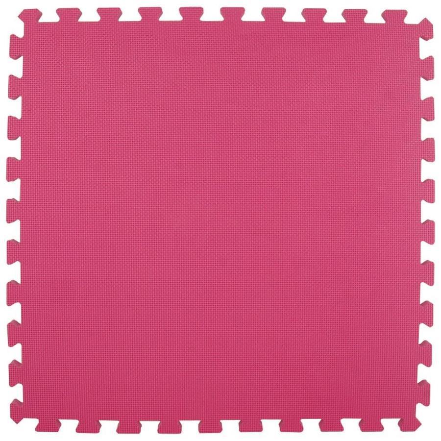 Greatmats 25-Pack 24-in x 24-in Pink Loose Lay Foam Tile Multipurpose Flooring