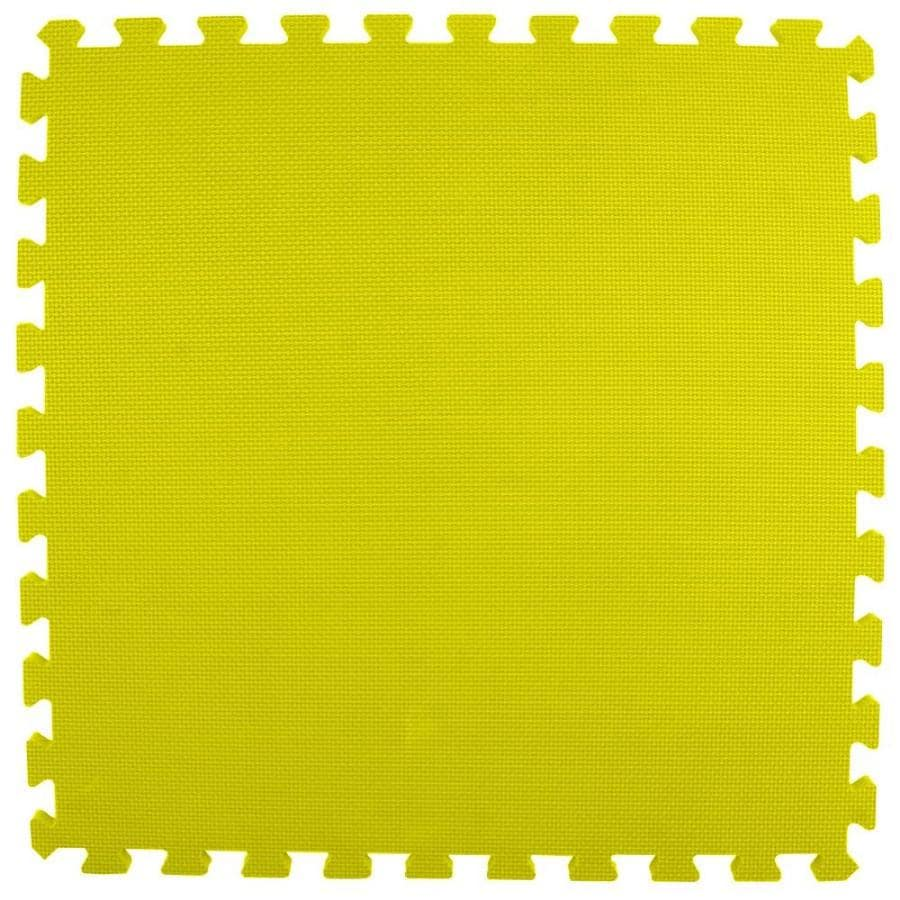 Greatmats 25-Pack 24-in x 24-in Yellow Loose Lay Foam Tile Multipurpose Flooring