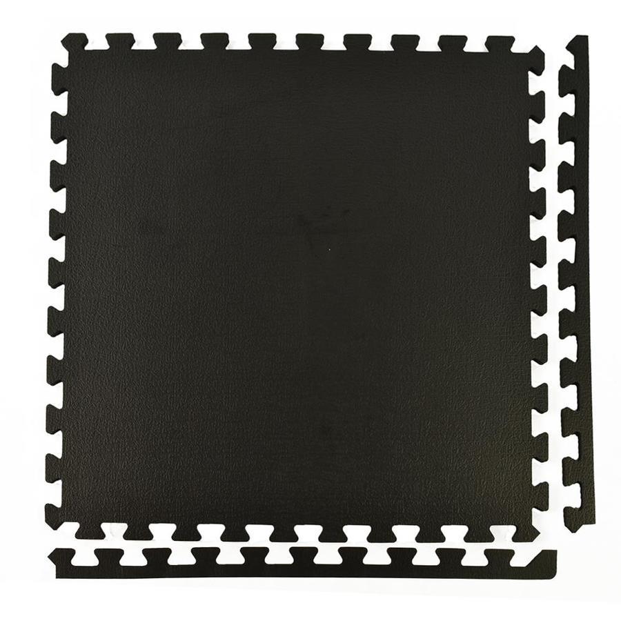 Greatmats 25-Pack 24-in X 24-in Black Loose Lay Foam Tile
