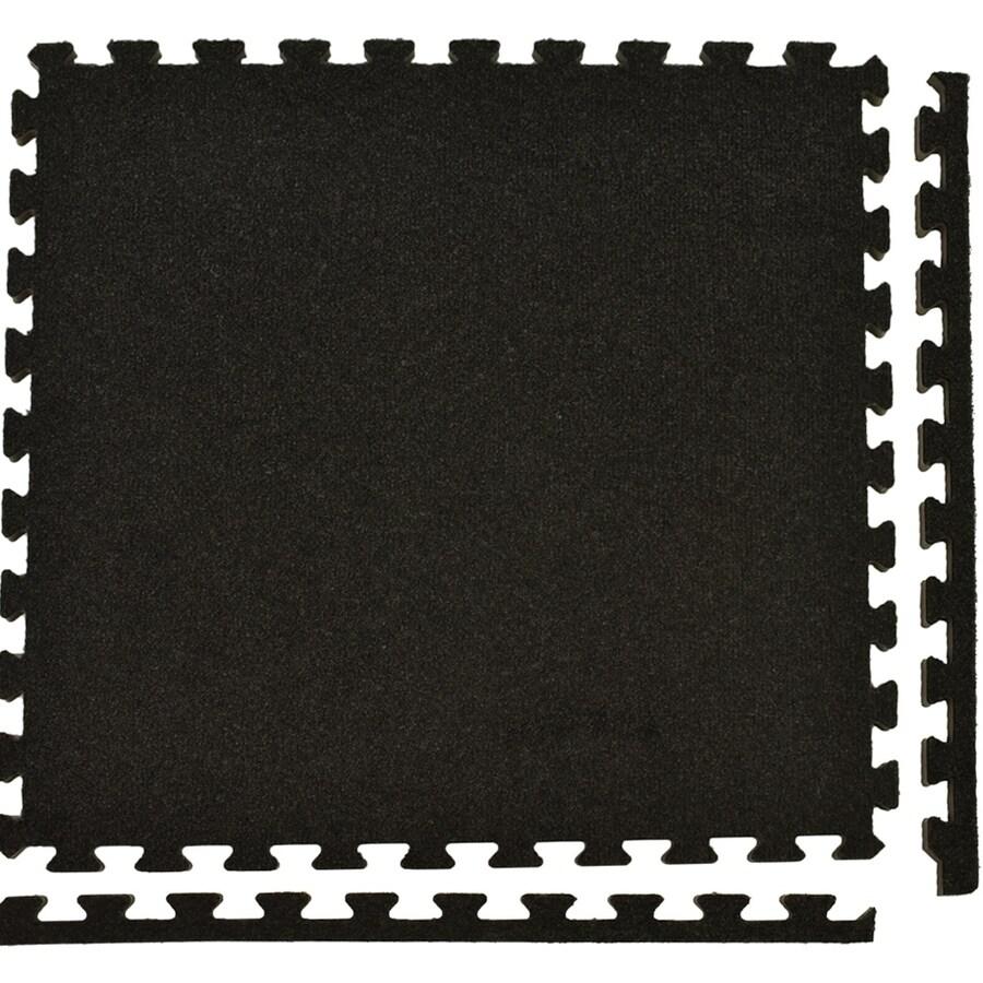 Shop Greatmats Royal Carpet 25-Pack 24-in Charcoal Plush