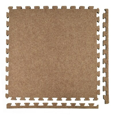 Greatmats Royal Carpet 25 Pack 24 In Tan Plush Floating