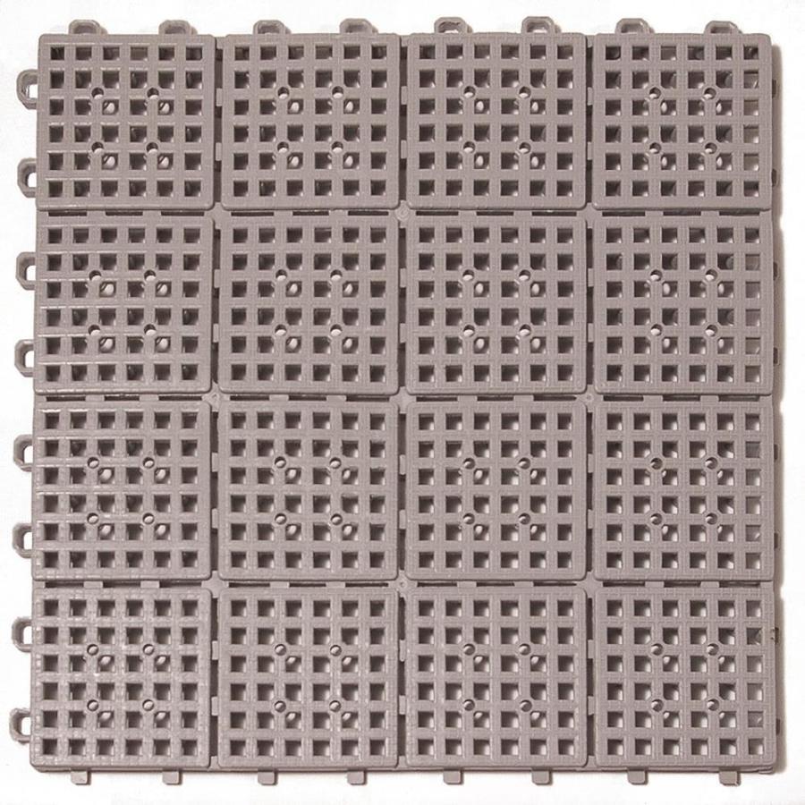 Greatmats Outdoor Patio Non Slip PVC Interlocking 11 1/2 In. X