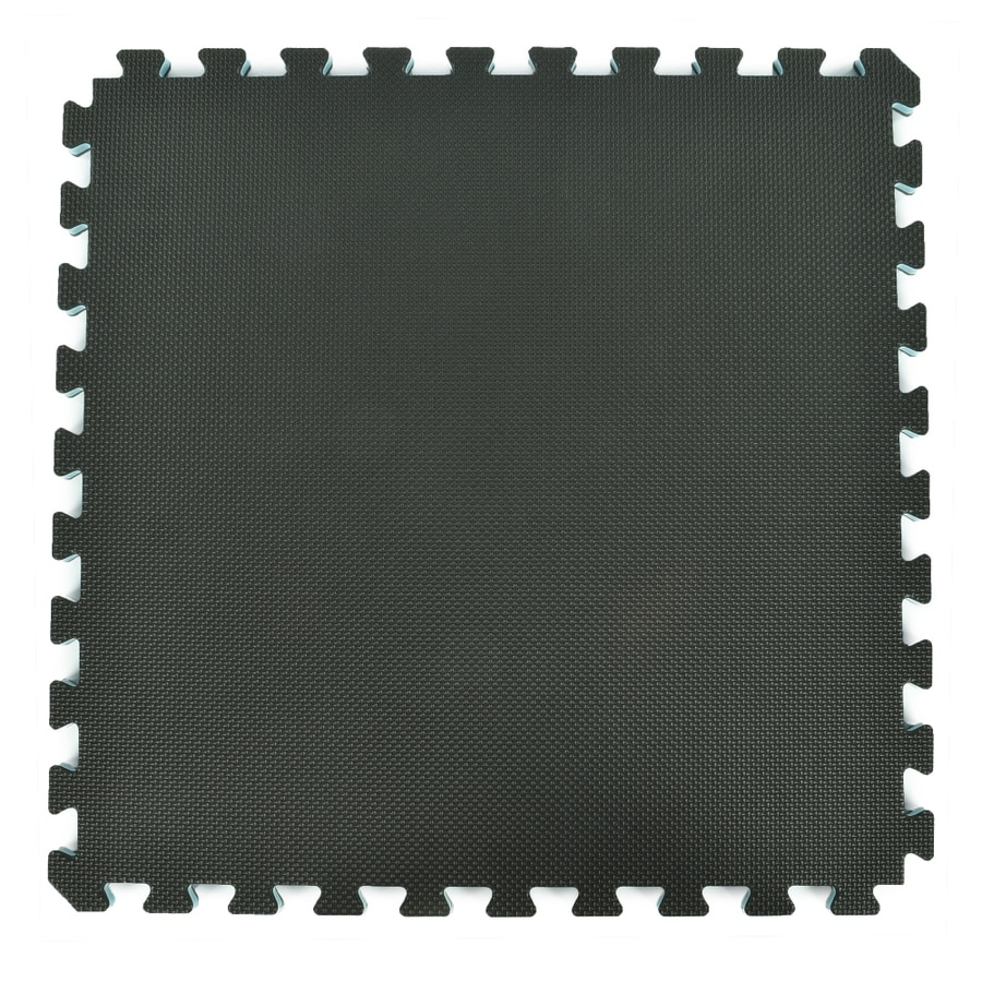 Greatmats 15-Pack 24.0-in X 24.0-in Black/Gray Loose Lay