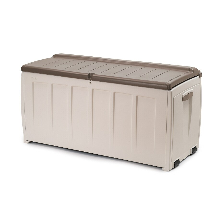 Keter North America 49-in L x 22-in W 89.82-Gallon Resin Deck Box