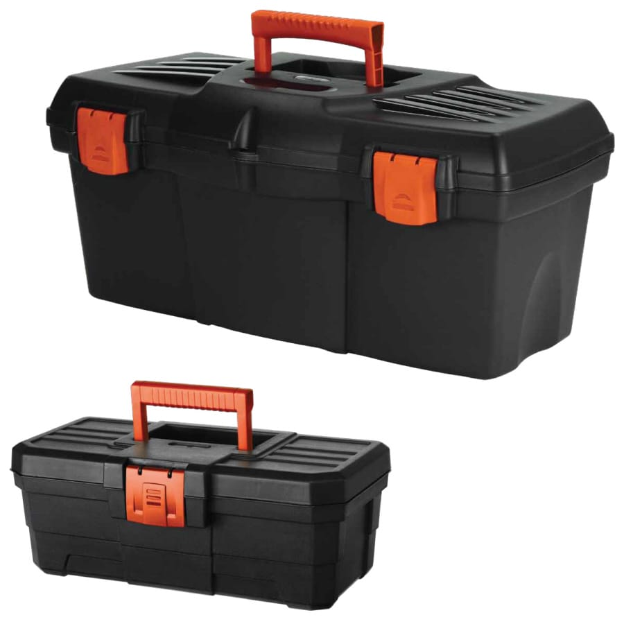 BLACK & DECKER 20.9-in Black Resin Tool Box