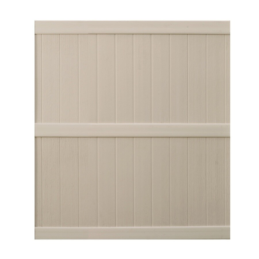 Shop Keter Springfield 6 Ft X 6 Ft Beige Flat Top Privacy